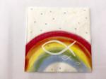 20 Servietten Regenbogen bunt Kommunion, Konfirmation, Taufe 001