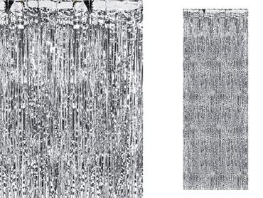 Folienvorhang 90 cm silber