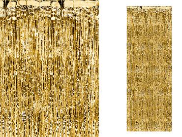 Folienvorhang 90 cm gold