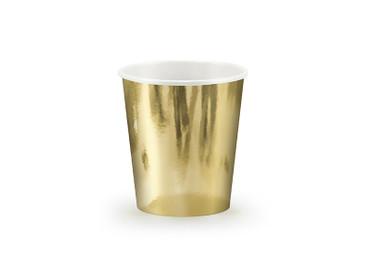 6 Pappbecher gold