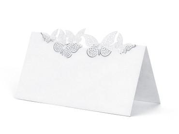 10 Tischkarten mit Schmetterlingen