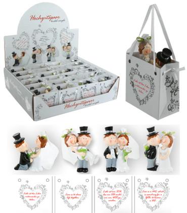 Hochzeitspaar in Geschenktüte
