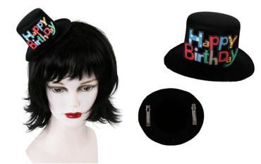 Miniatur-Hut mit Clip Happy Birthday
