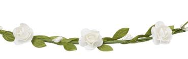 Blüten-Kranz / Blumenkranz weiß-grün – Bild 1