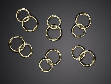 Streudeko Ringe gold 25 Stk.