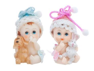 Figur Baby Junge mit Hund – Bild 1
