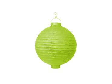 LED Lampion 20cm apfelgrün