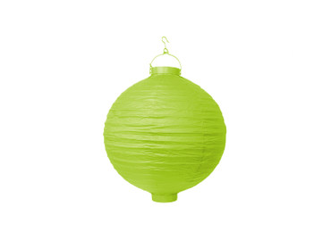 Papier-Lampion mit Birne apfelgrün