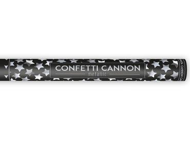 Konfetti-Shooter Sterne silber 60 cm