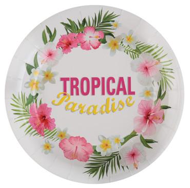 10 Papp-Teller Tropical – Bild 1