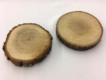 Holzscheibe Eiche 12-14cm – Bild 1