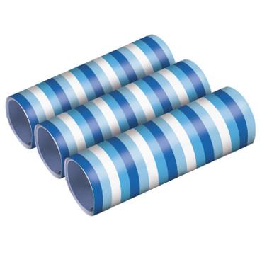 3 Luftschlangen blau