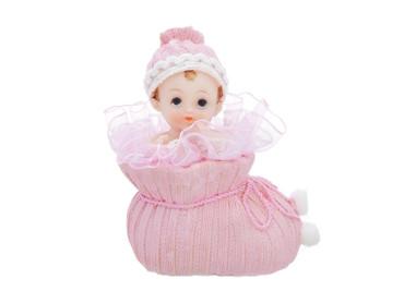 Baby-Figur im Schuh rosa