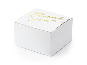 10 Geschenkboxen Thank you gold – Bild 1
