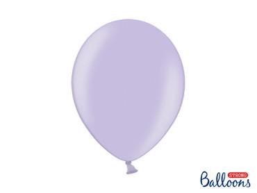 50 Metallic-Ballons lavendel