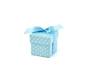 10 Geschenkboxen blau mit Schleife – Bild 1