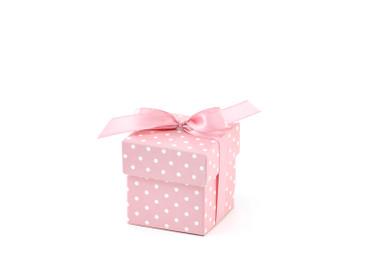 10 Geschenkboxen rosa mit Schleife – Bild 1