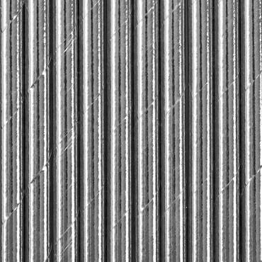 10 Papier-Trinkhalme silber – Bild 2
