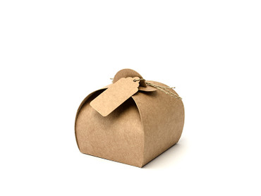 10 Geschenkboxen Kraftpapier – Bild 1