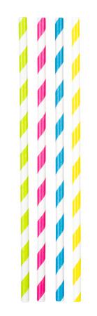 20 Papier-Trinkhalme 4 Farben – Bild 1