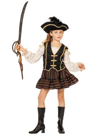 Piratin-Kleid braun – Bild 1