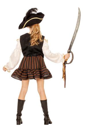 Piratin-Kleid braun – Bild 3