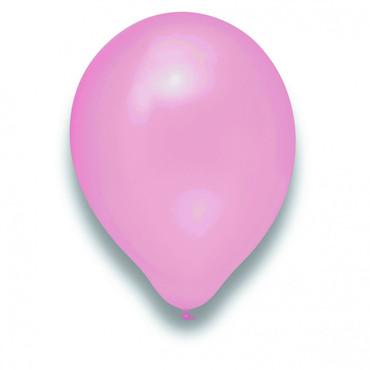 100 Rundballons perlmutt rosa