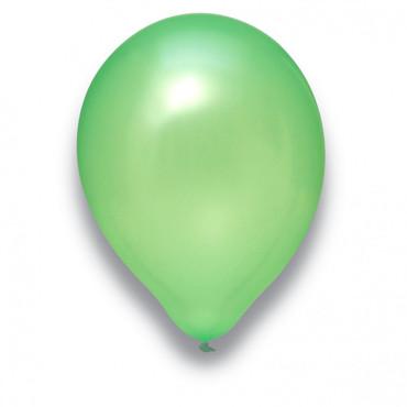 100 Rundballons perlmutt hellgrün