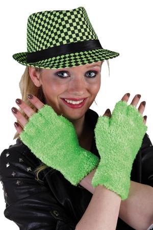 Flauschhandschuhe neongrün – Bild 1