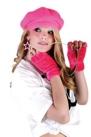 Flauschhandschuhe neonpink – Bild 1