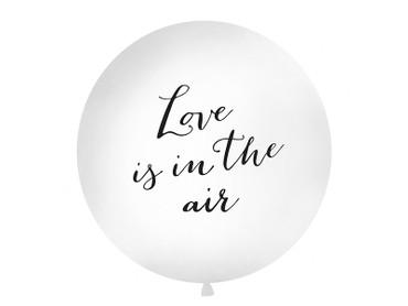 Riesenballon 'Love is in the air' weiß-schwarz