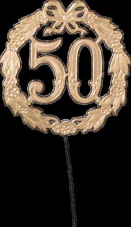 Jubiläumszahl 50 Ø 13cm