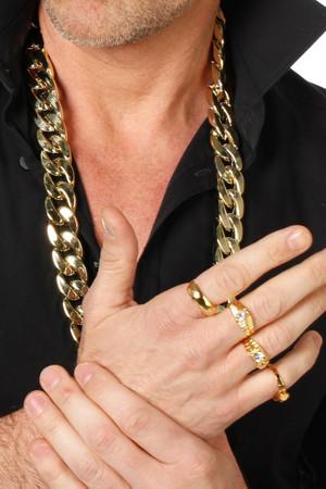 Goldkette Macho groß