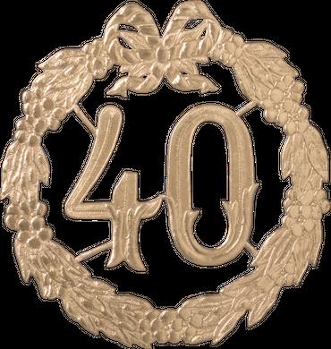 Jubiläumszahl 40 Ø 24cm