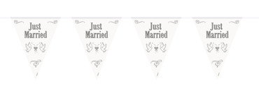 Wimpelkette 'Just married'