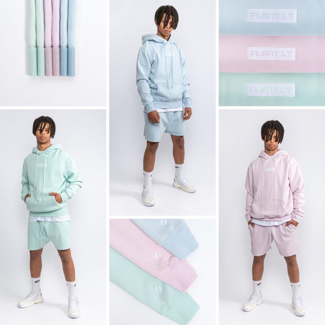 Flgntlt Summer Essentials SS20 Hoodie Neo Mint Sky Blue Lavender