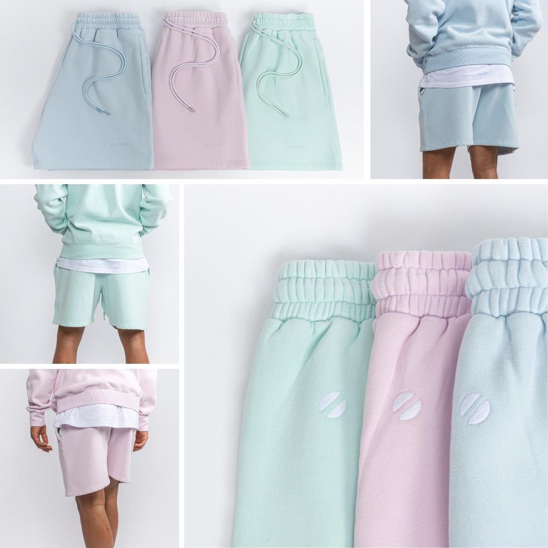 Flgntlt Summer Essentials SS20 Shorts Neo Mint Sky Blue Lavender