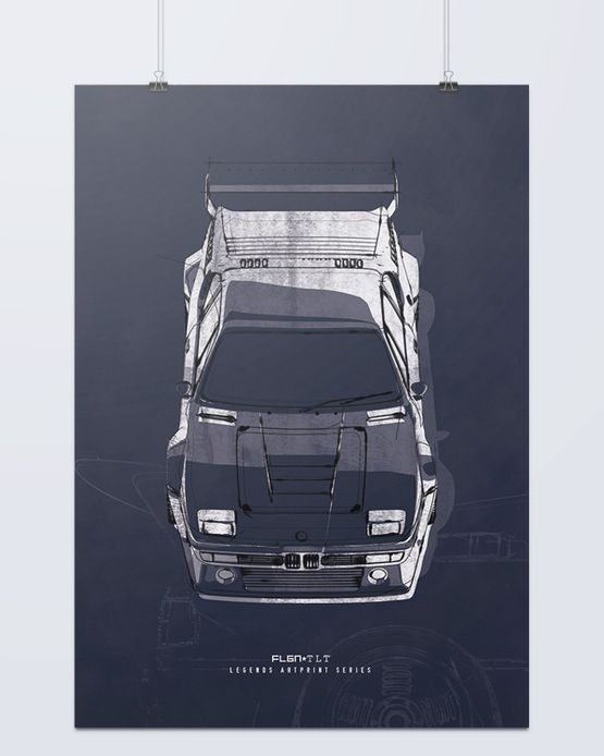TLT LEGENDS - BMW M1 Artprint – Bild 1