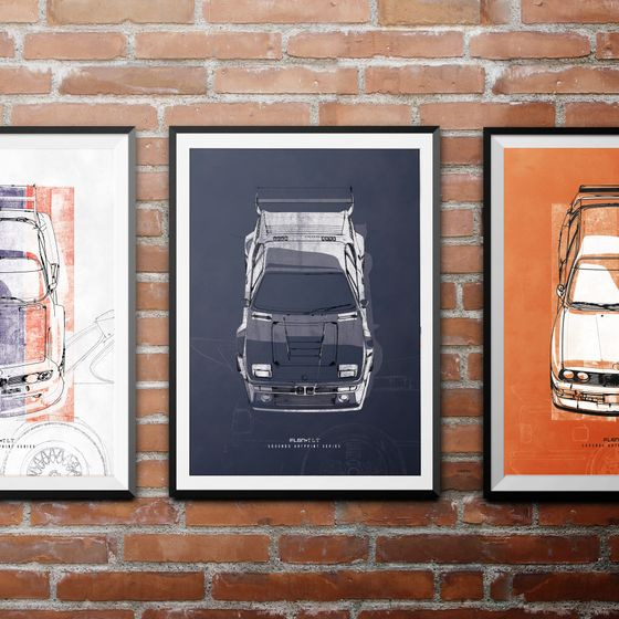 TLT LEGENDS - BMW M1 Artprint – Bild 2