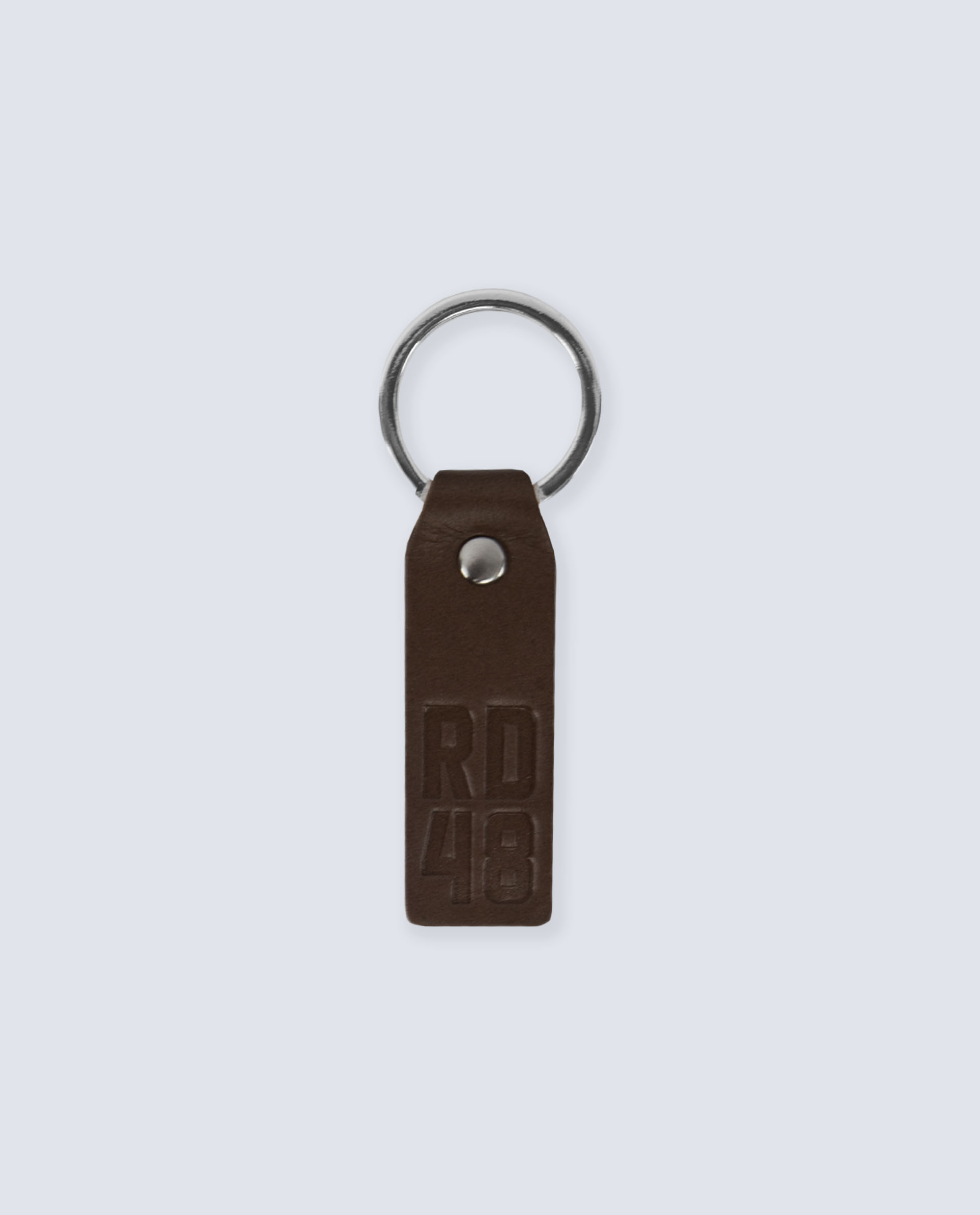 RD48 LEATHER KEYRING BROWN
