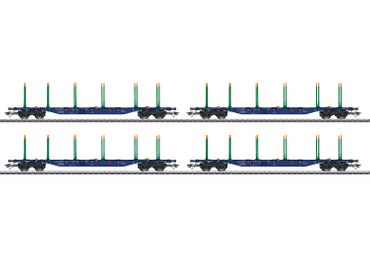47093 KLV-Tragwagen-Set der Bauart Sgnss Green Cargo