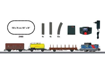 """29468 Digital-Startpackung """"Schwedischer Güterzug Epoche VI"""". 230 Volt."""