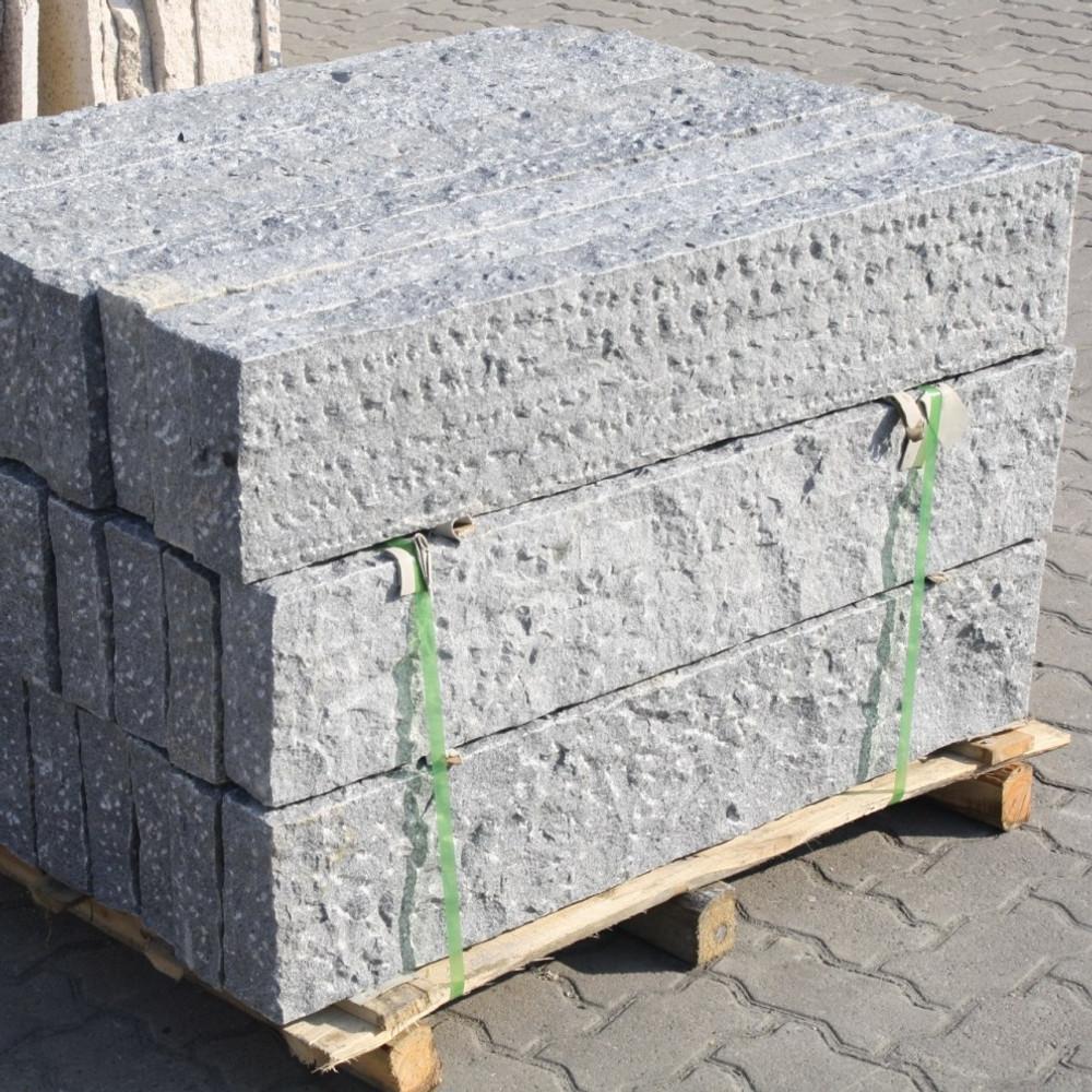 Naturstein palisade granit dunkel gespitzt ebay - Naturstein post ...