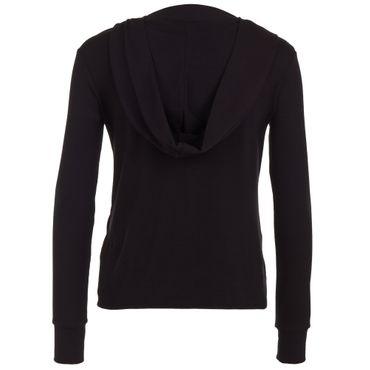 Yoga Damen-Kapuzenjacke schwarz, DIWALI JACKET von hut und berg balance