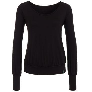 Yoga Langarm Shirt/Oberteil schwarz, SITA LONGSLEEVE von hut und berg balance