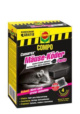 COMPO Cumarax® Mäuse-Köder Paste, 40 g + 1 Köderbox