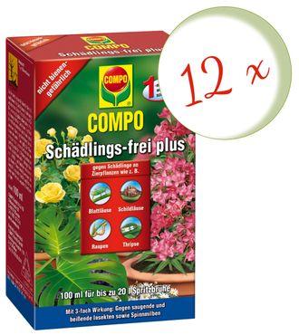 Sparset: 12 x COMPO Schädlings-frei plus, 100 ml