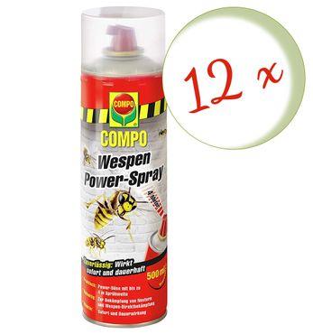 Sparset: 12 x COMPO Wespen Power-Spray, 500 ml