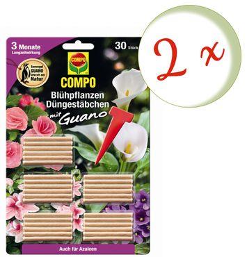 Sparset: 2 x COMPO Blühpflanzen Düngestäbchen mit Guano, 30 Stück