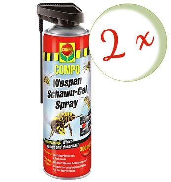 Sparset: 2 x COMPO Wespen Schaum-Gel Spray, 500 ml